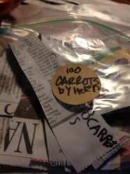 Store seed tape in a ziploc bag or glass jar in the fridge until ready to plant.