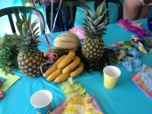 Tropical fruit centerpiece